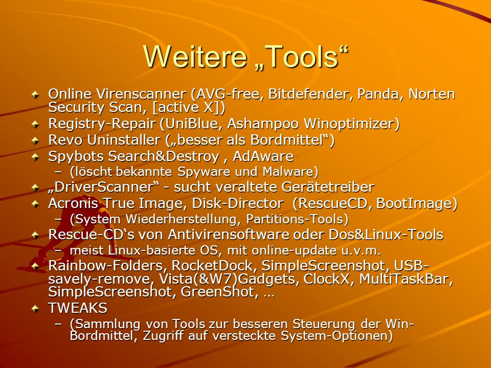 "31.03.2017 Weitere ""Tools Online Virenscanner (AVG-free, Bitdefender, Panda, Norten Security Scan, [active X])"